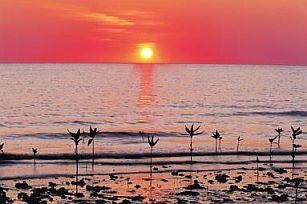 Sun set Cape York Beach