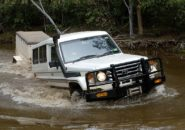 four wheel drive creek Cape York Queensland Australia