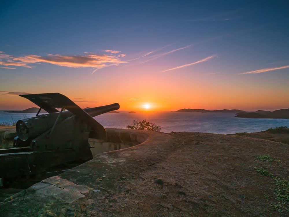 Green-Hill-Fort-Sunset-Thursday-Island-Torres-Strait-Island-Group-of-Islands