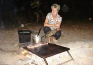 Help cooking dinner on your Cape York 4wd Tour from Cairns