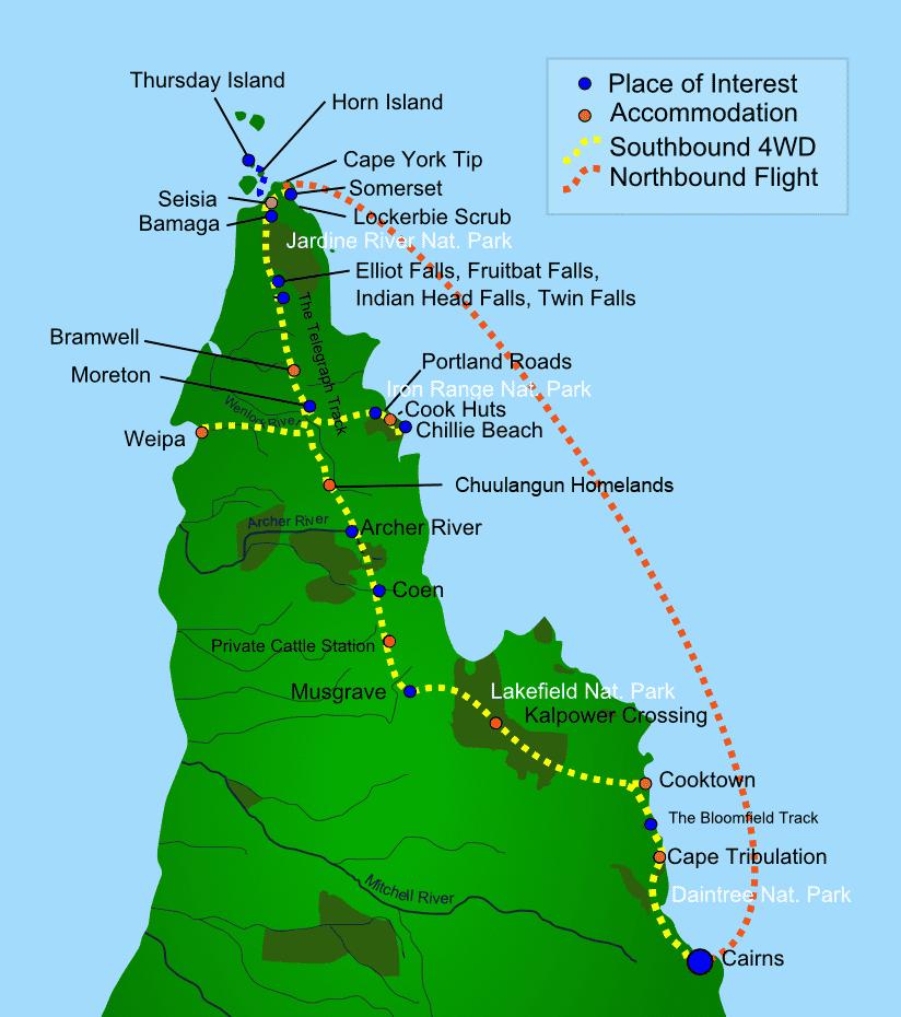 c11fd_Cape York Peninsula Tours Map