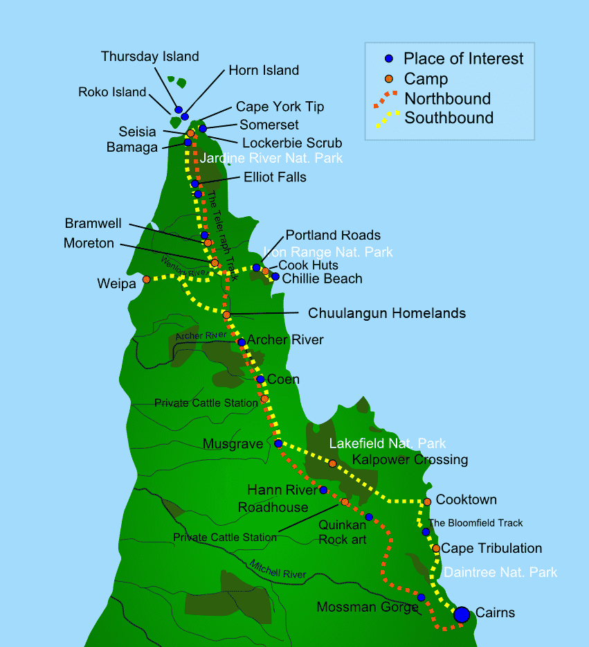 c15dd_Cape York Camping Tours Map