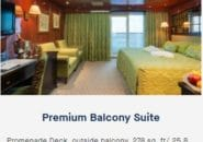 MS Caledonian Sky Premium Balcony Suite