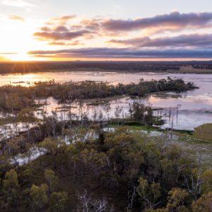 Aerial Shot of Wetlands